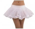 Белая двухслойная нижняя юбка