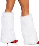 Белые меховые накладки на сапоги