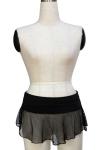 Черная юбка в сетку
