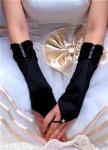Черные перчатки без пальцев
