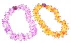 Цветное гавайское ожерелье фиолетовое