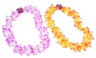 Цветное гавайское ожерелье оранжевое