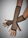 Длинные перчатки в сеточку