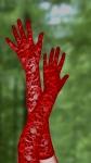 Изящные красные перчатки