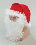 Колпак Деда Мороза с бородой