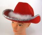 Ковбойская шляпа красная