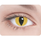 Линзы Кошачий глаз желтый