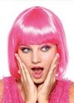 Парик розовое каре
