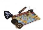 Пиратский набор со скелетом и картой