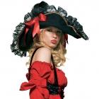 Шляпа c красными лентами