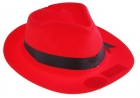 Шляпа гангстера красная