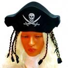 Шляпа пирата с косичками