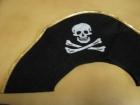 Шляпа пирата с золотой каймой