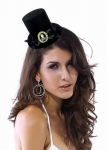 Шляпка Пиратка черная