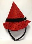 Шляпка ведьмочка красная
