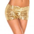 Золотые блестящие шортики